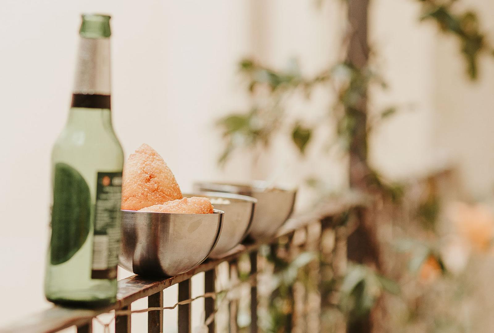 snack sul balcone